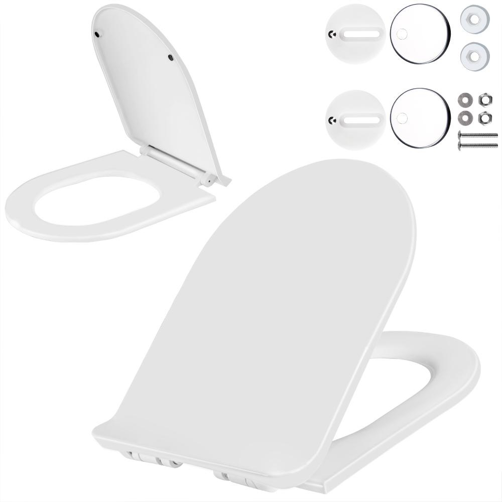 deuba wc sitz toilettensitz toilettendeckel klobrille absenkautomatik klodeckel ebay. Black Bedroom Furniture Sets. Home Design Ideas