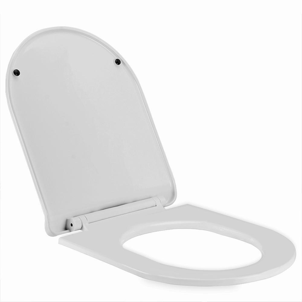 si ge de toilette abattant wc blanc fermeture amortisseur montage rapide ebay. Black Bedroom Furniture Sets. Home Design Ideas