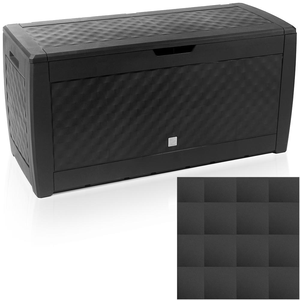 auflagenbox truhe rollen gartenbox gartentruhe kissenbox 310l kunststoff box ebay. Black Bedroom Furniture Sets. Home Design Ideas