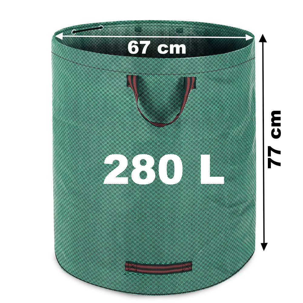 sac de jardin 3 poign es feuilles mortes d chets 280 litres charge max 50 kg ebay. Black Bedroom Furniture Sets. Home Design Ideas