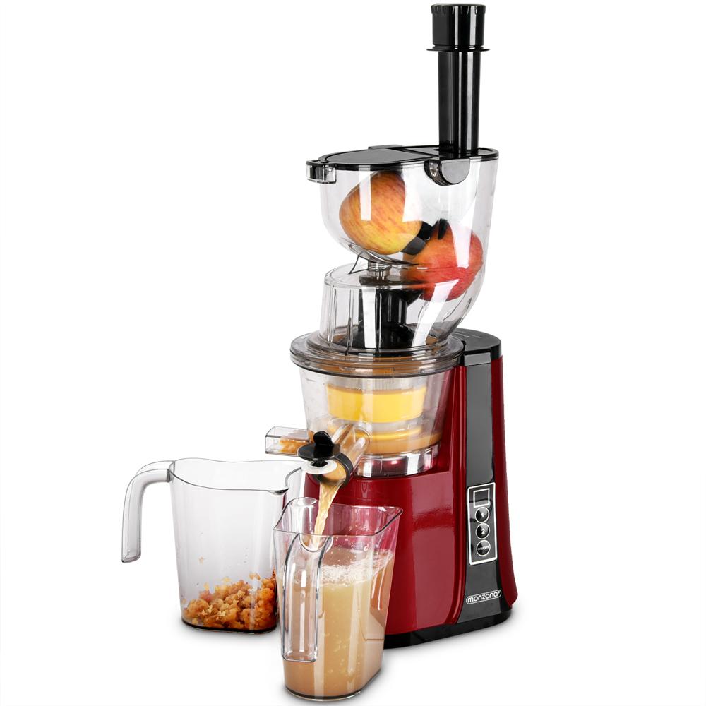 Details zu monzana® Entsafter Slow Juicer 500W Saftpresse Edelstahl Fruchtpresse 60Umin