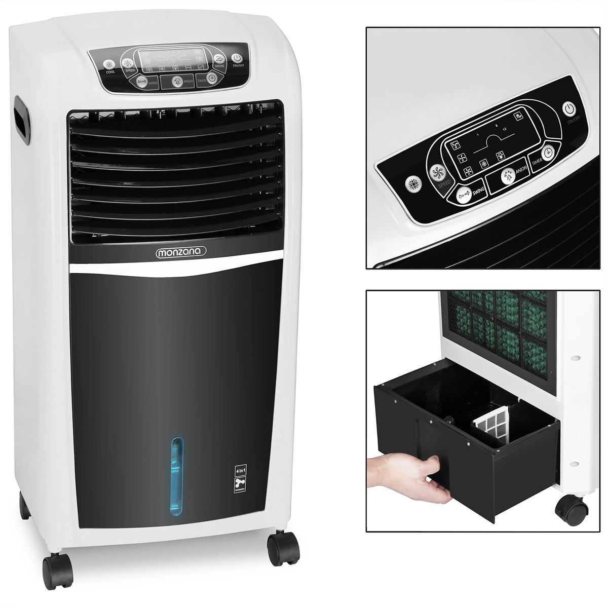 Treu Mini Klimaanlage Klimagerät Luftbefeuchtung Turmventilator Mobil Fernbedienung Stand- & Tischventilatoren
