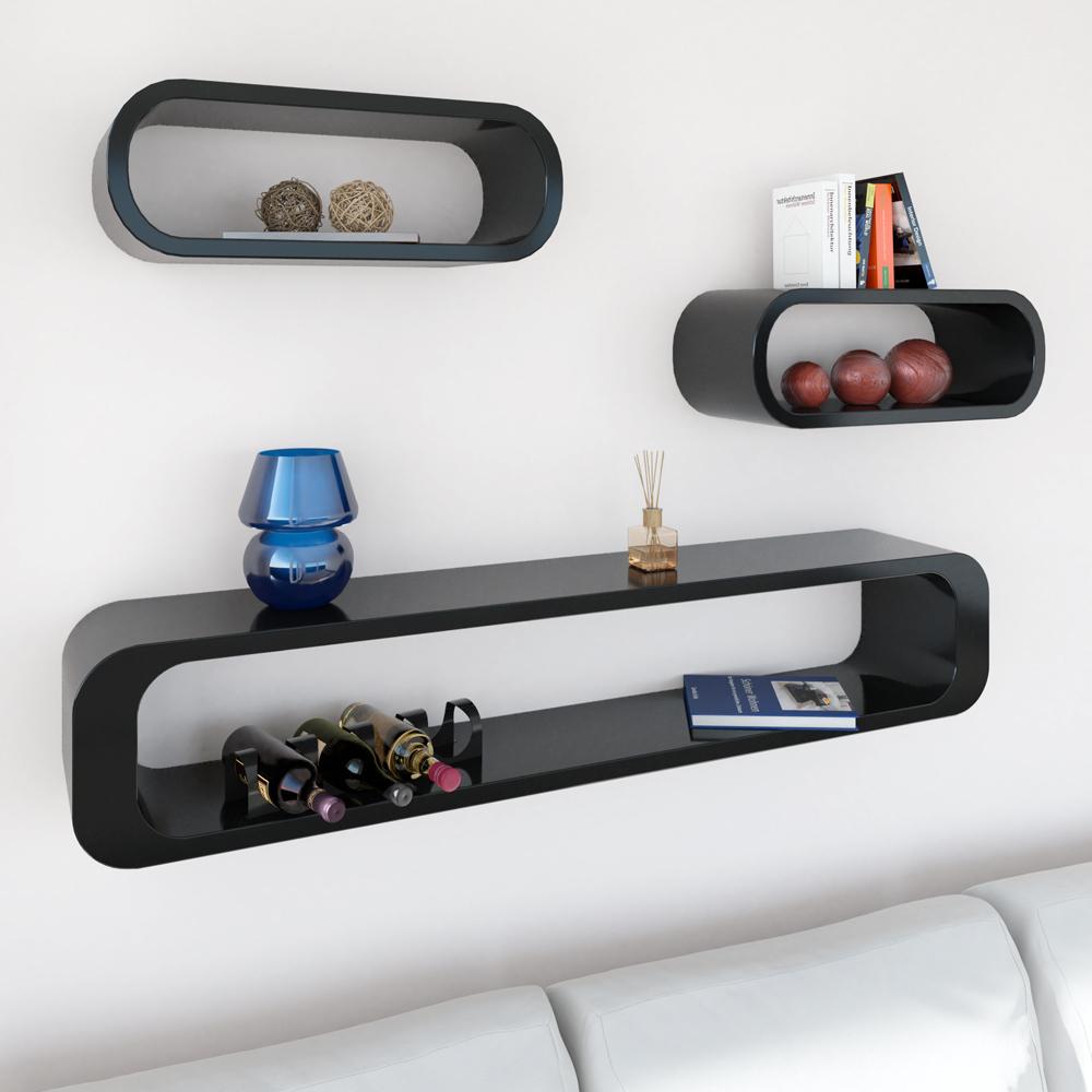wandregal 3er set h ngeregal b cherregal cuberegal. Black Bedroom Furniture Sets. Home Design Ideas
