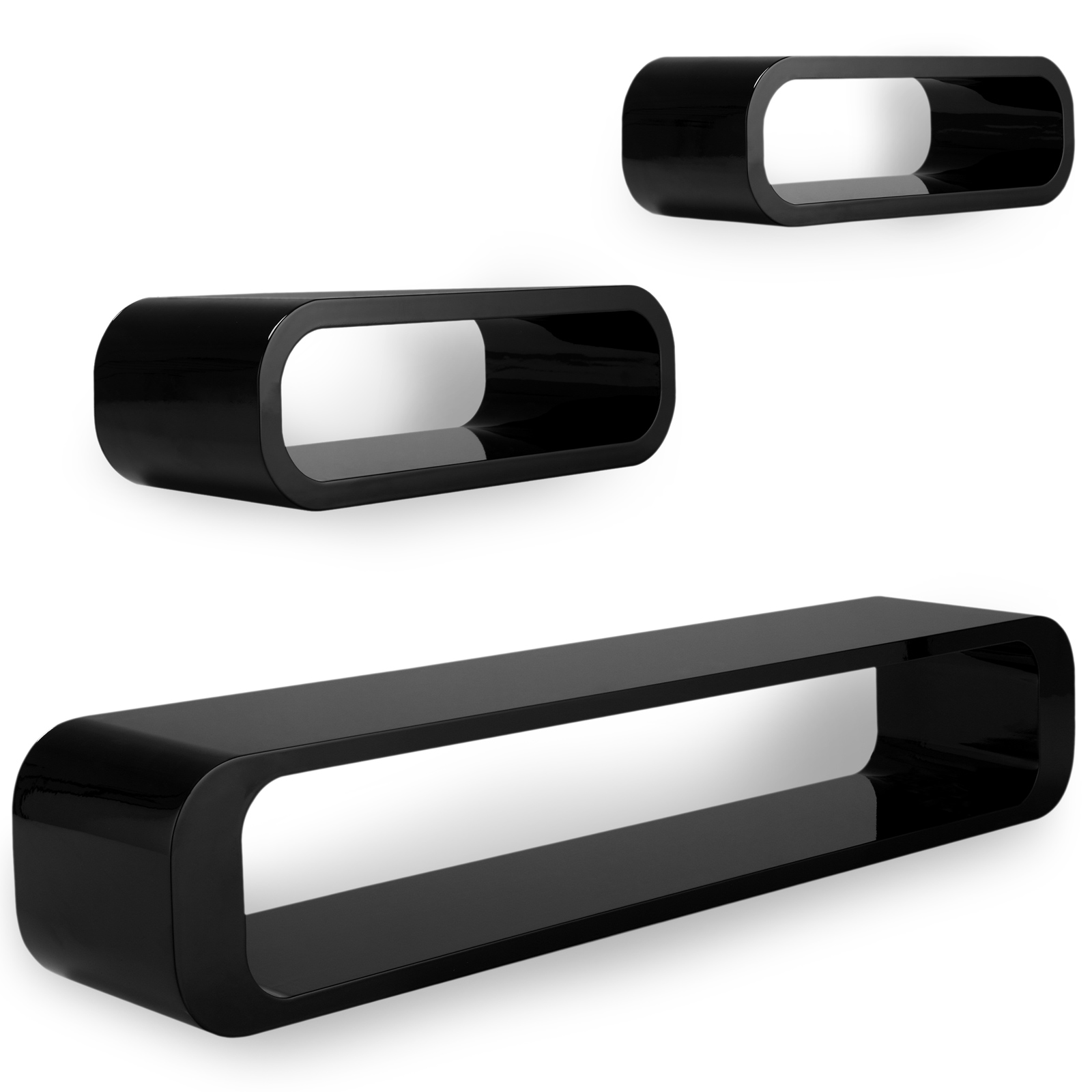 couchtisch wohnzimmertisch hochglanz beistelltisch tisch 360 drehbar schwarz ebay. Black Bedroom Furniture Sets. Home Design Ideas