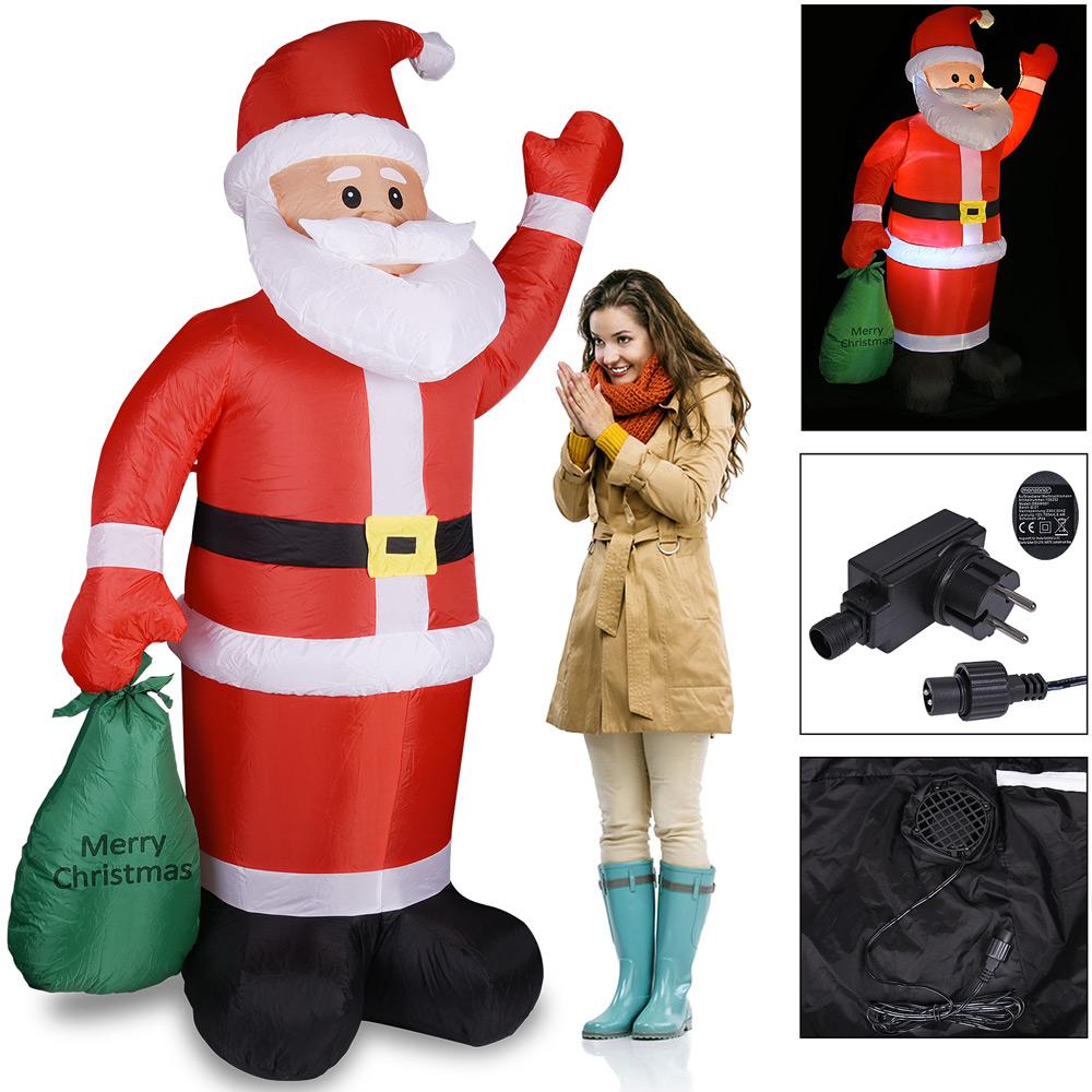 Weihnachtsmann aufblasbar 195 santa dekoration weihnachten for Dekoration nikolaus