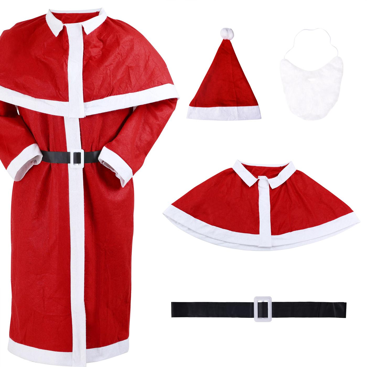 weihnachtsmann kost m set nikolaus santa claus anzug. Black Bedroom Furniture Sets. Home Design Ideas