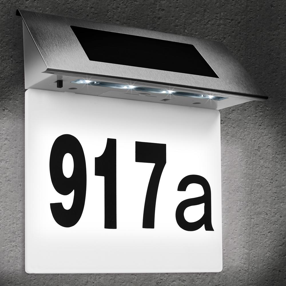 88105371 Solar Hausnummer weiß