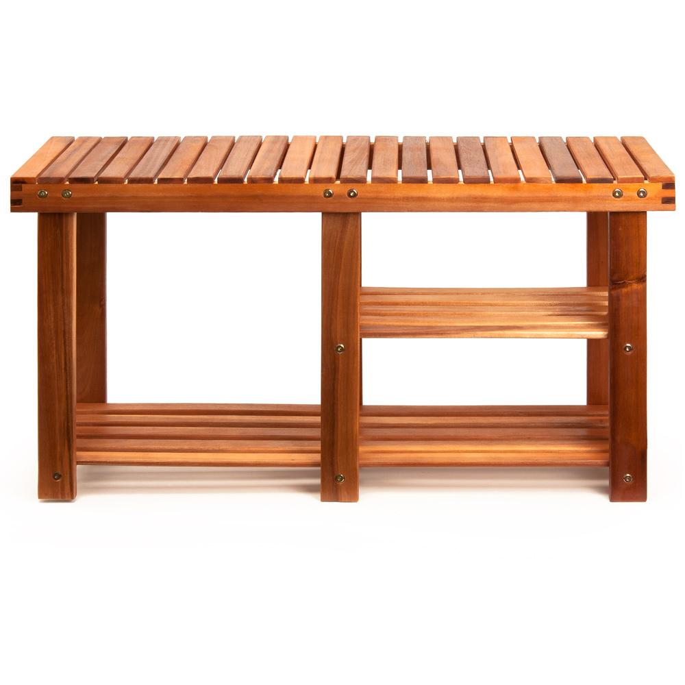 Shoe Rack Bench Storage Cabinet Hallway 2 Tier Stool Wooden Seat Organiser Shelf Ebay