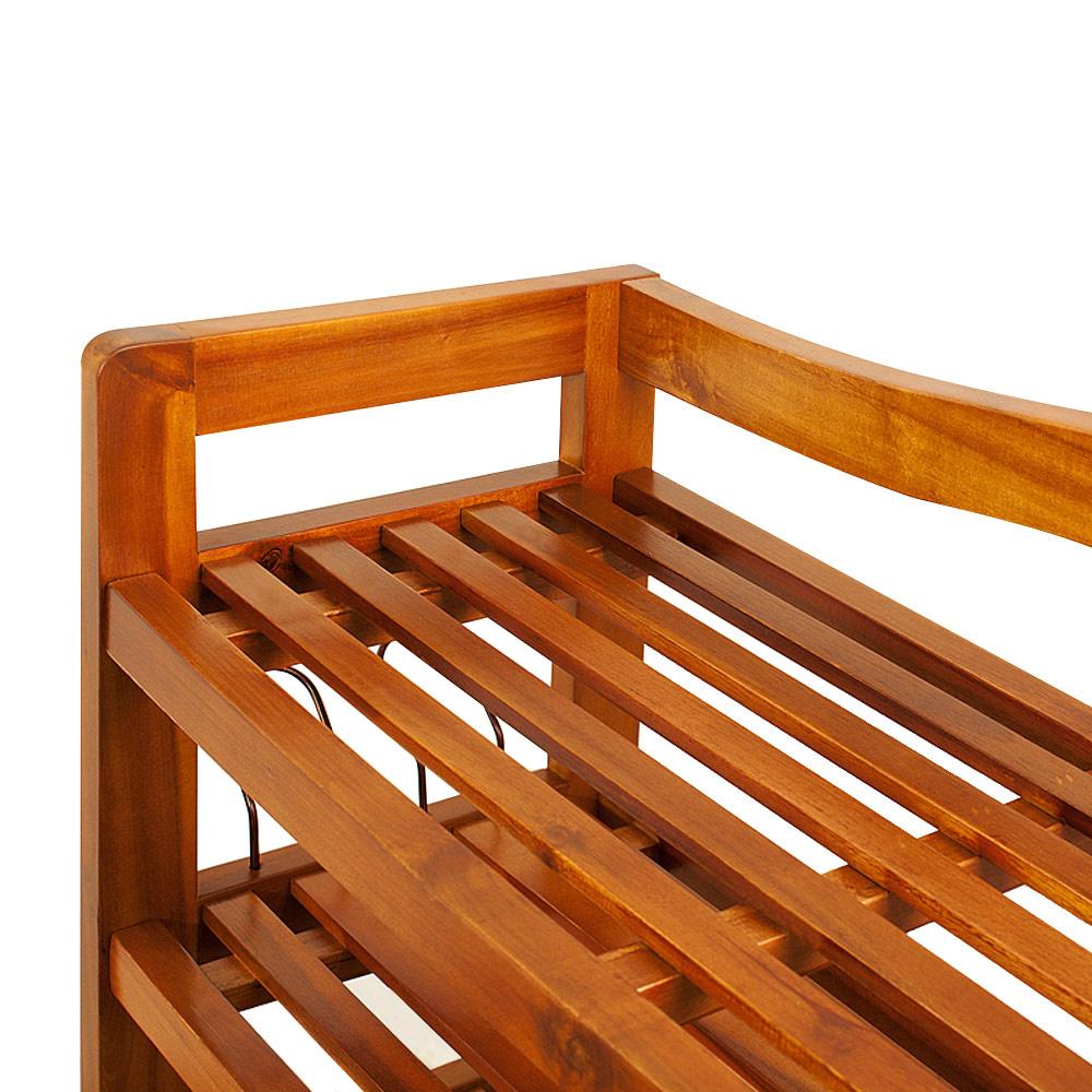 b ware schuhregal schuhst nder schuhschrank akazie. Black Bedroom Furniture Sets. Home Design Ideas
