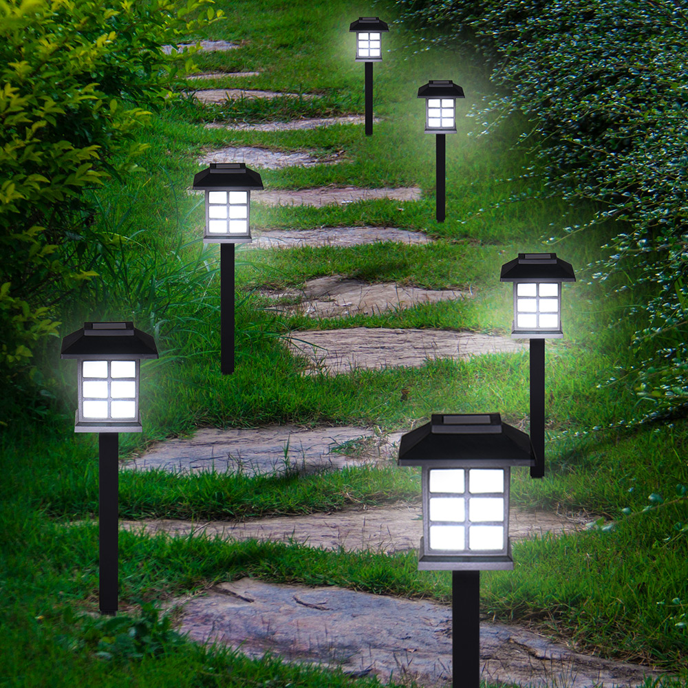 Lumi re lampe led set 6x 12x 18x 24x pour jardin balcon for Lumiere terrasse led