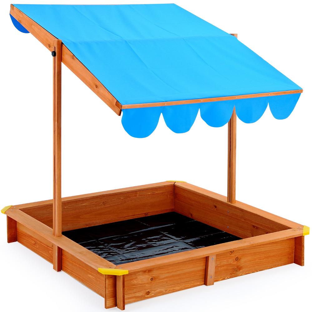 sandkasten mit dach sandbox sandkiste holz spielhaus f r kinder schutz abdeckung ebay. Black Bedroom Furniture Sets. Home Design Ideas