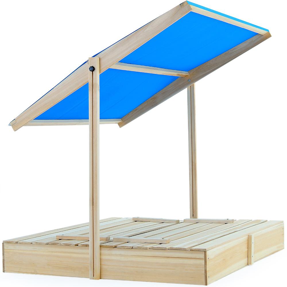 bac sable 120x120x120cm avec toit hauteur r glable. Black Bedroom Furniture Sets. Home Design Ideas