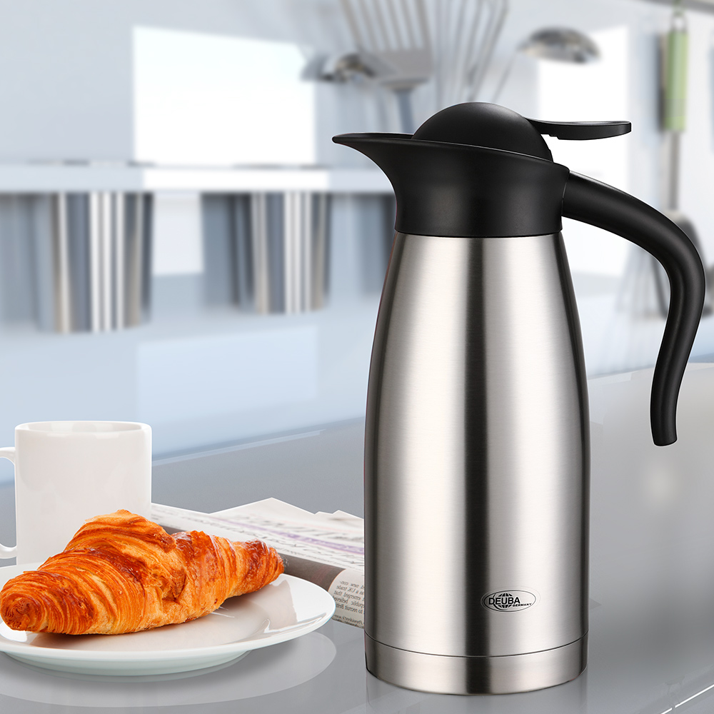 thermoskanne isolierkanne thermosflasche 1 5 l thermos kaffee kanne edelstahl ebay. Black Bedroom Furniture Sets. Home Design Ideas
