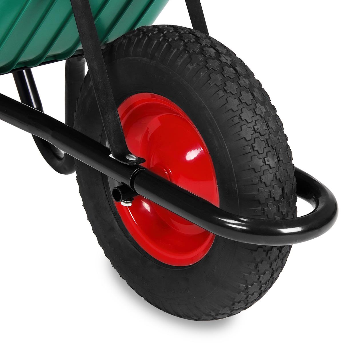 Brouette de jardin ou de chantier charge max 150 kg en acier laqu cuve verte ebay - Brouette de jardin plastique ...