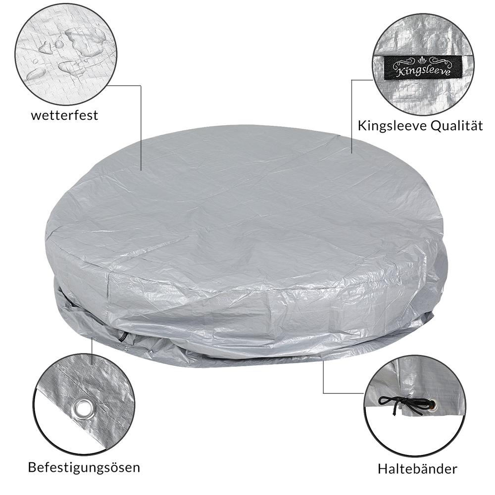 Cover for Sun Day Bed Ø 188cm Protection Covering Tarpaulin Round Protective