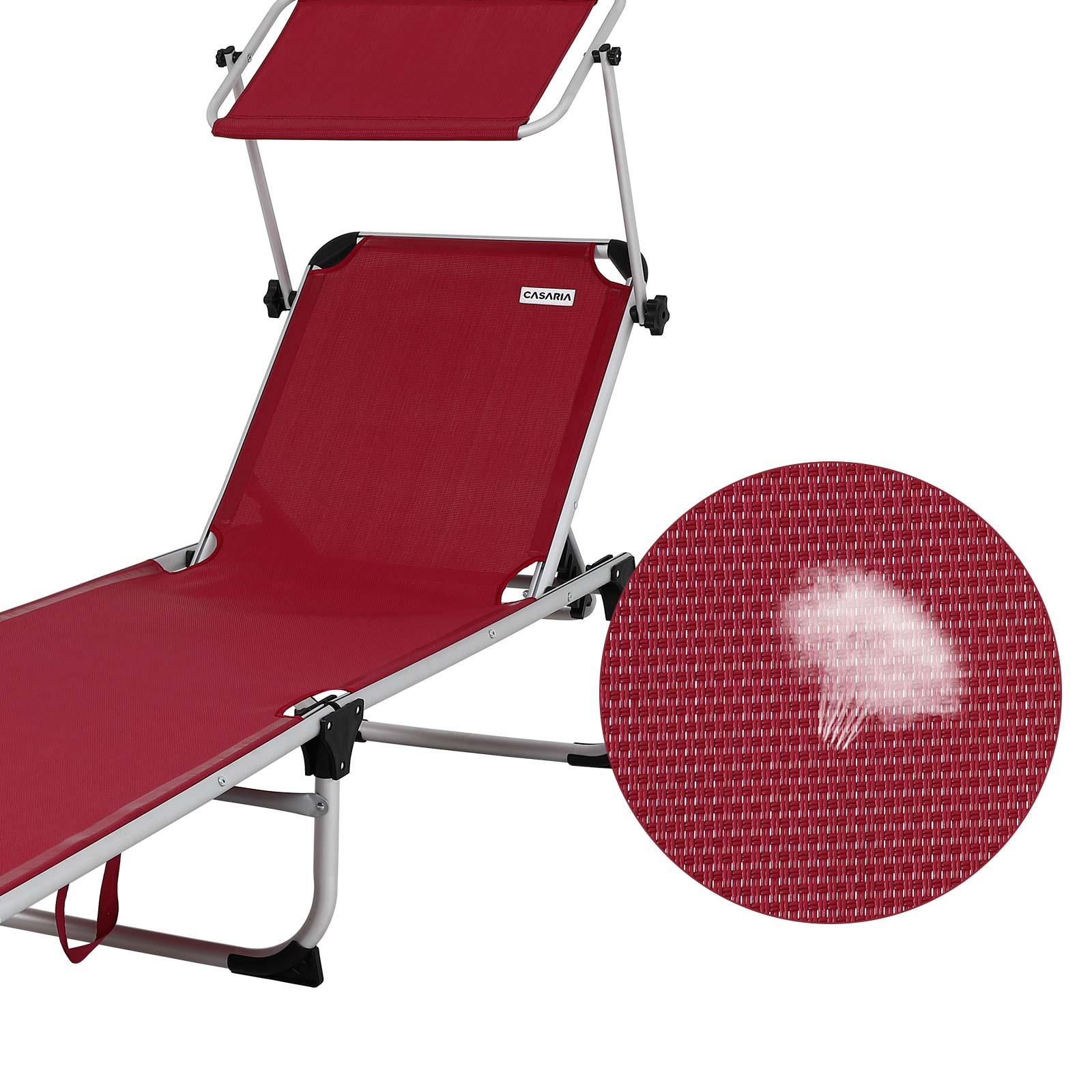 Bo-Camp éponge à dossier haut Déjà-référence jardin Chaise longue pliante-Chaise Édition Camping