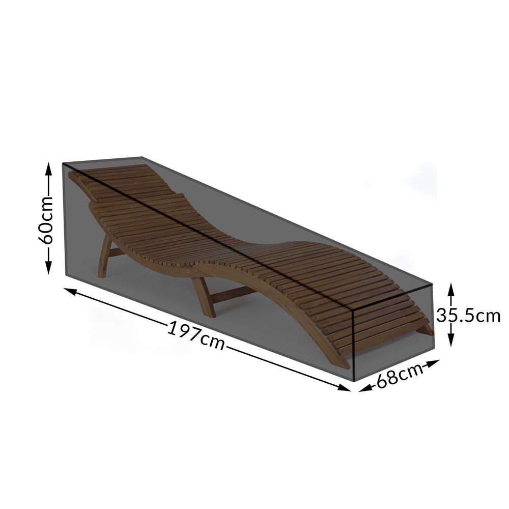 Liege Gartenliege Abdeckung Abdeckhaube 208 cm 60 cm 93 cm Ösen und Kordel