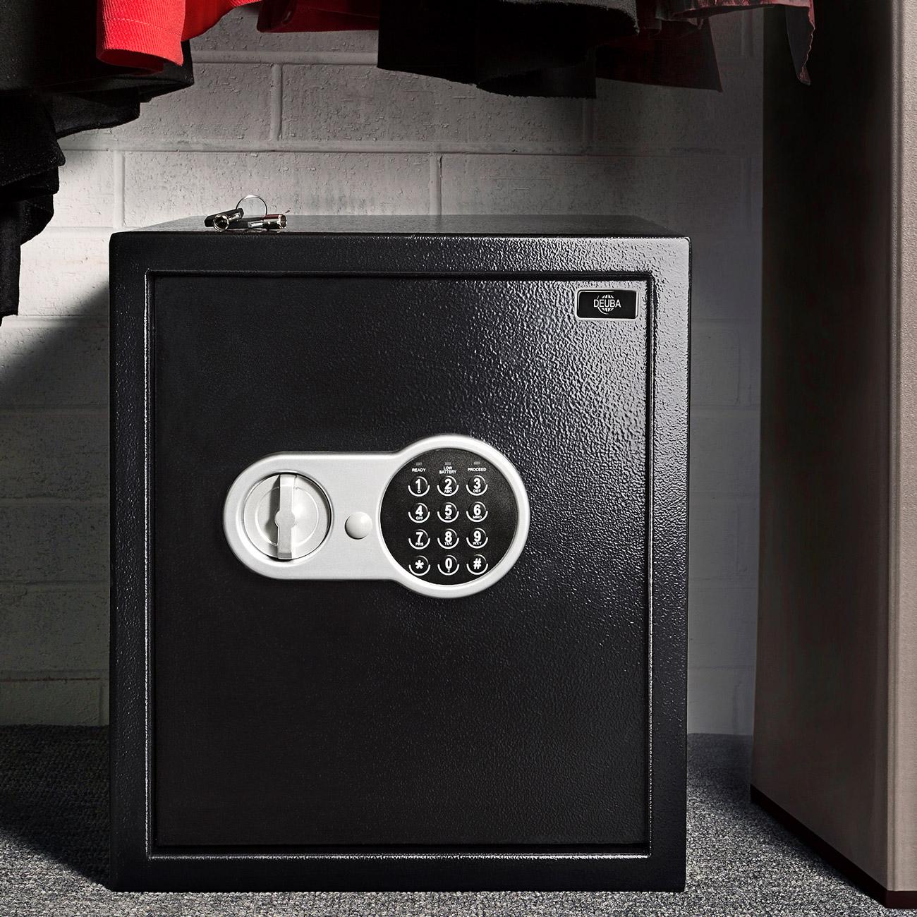MAN électronique coffre-fort coffre noir 36 cm haussafe geldtresor