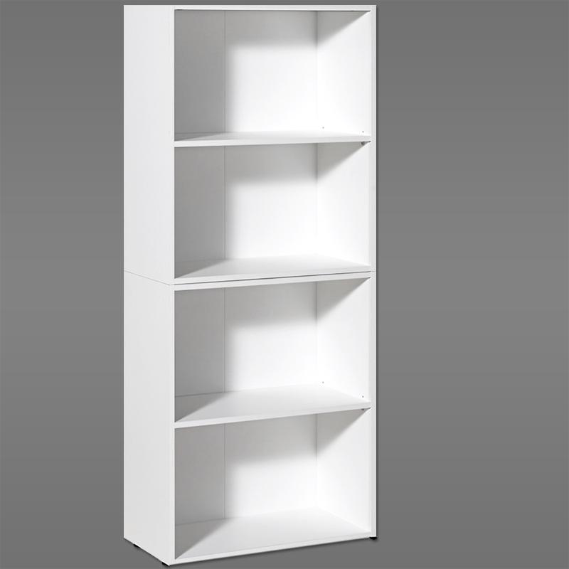 Tag res blanche 2 tages biblioth que chambre meuble for Etagere rangement bureau
