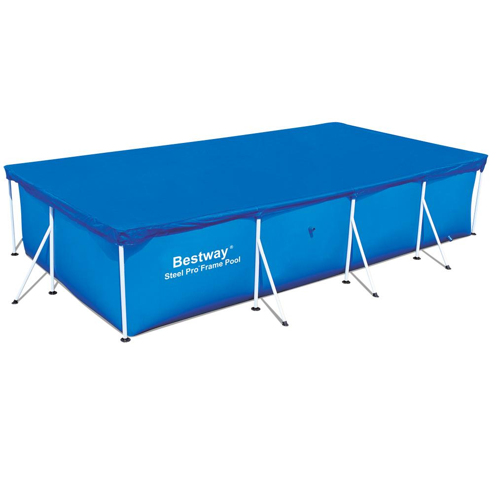bestway abdeckplane poolabdeckung poolplane plane frame pool 400x211cm 58107 ebay. Black Bedroom Furniture Sets. Home Design Ideas