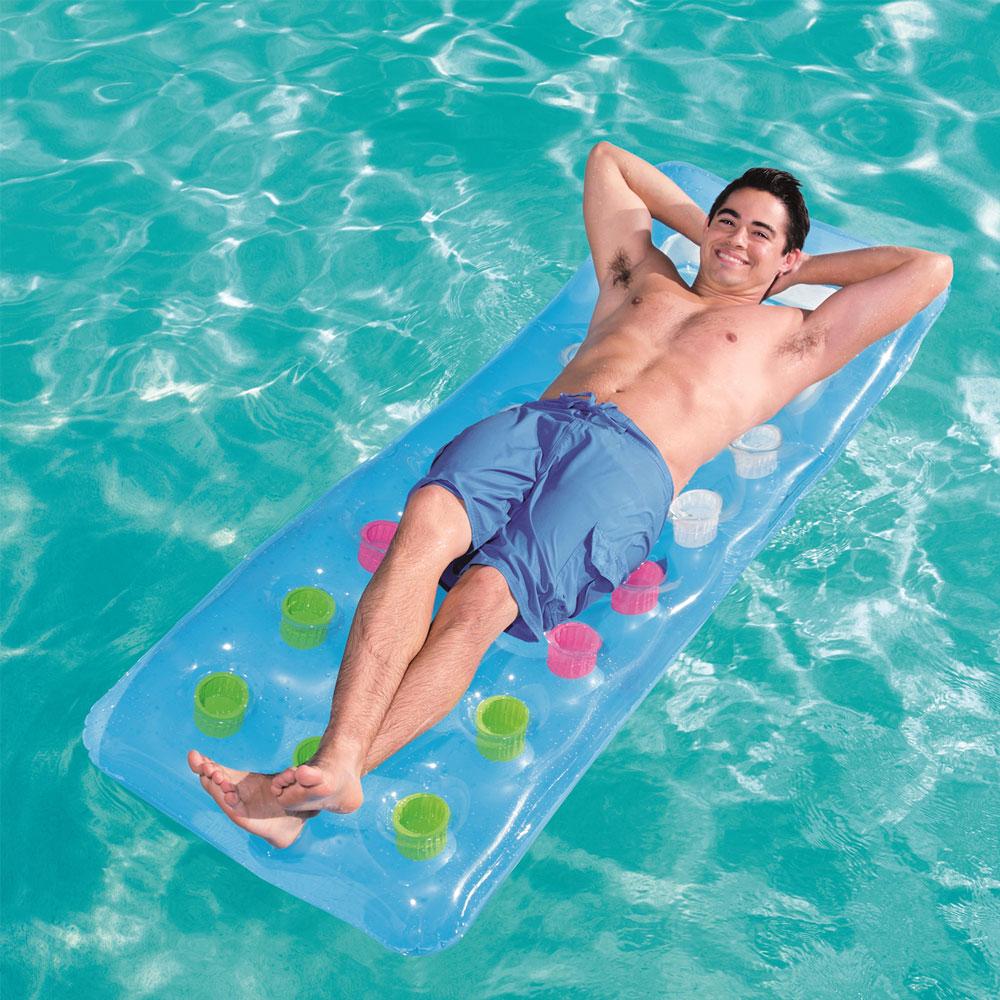 Water Air Mattress 188cm Beach Swimming Pool Inflatable Solar Mat Viewing Window