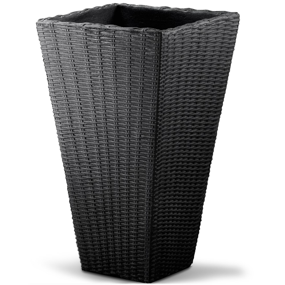 blumentopf pflanzk bel bertopf blumenkasten pflanzentopf 70cm taupe anthrazit ebay. Black Bedroom Furniture Sets. Home Design Ideas