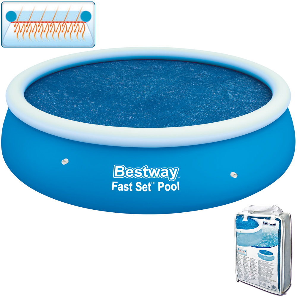 bestway solar abdeckplane poolabdeckung fast set pool 244cm poolheizung ebay. Black Bedroom Furniture Sets. Home Design Ideas