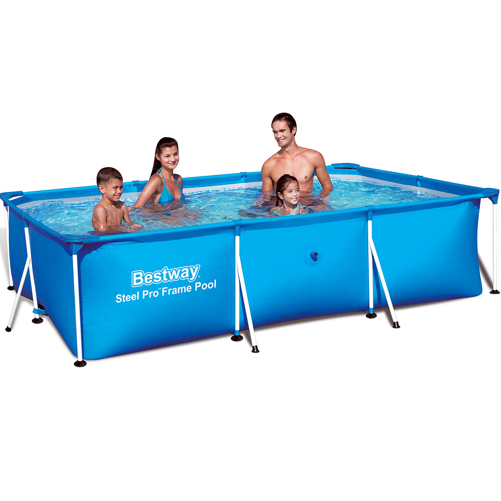 bestway frame pool swimming schwimmbecken stahlrohrbecken 300x201x66cm ebay. Black Bedroom Furniture Sets. Home Design Ideas
