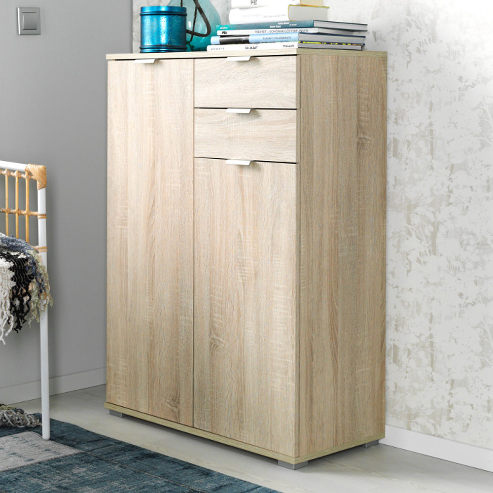 cs schmal commode tag re r glable en hauteur avec tiroirs pieds aspect alu ebay. Black Bedroom Furniture Sets. Home Design Ideas