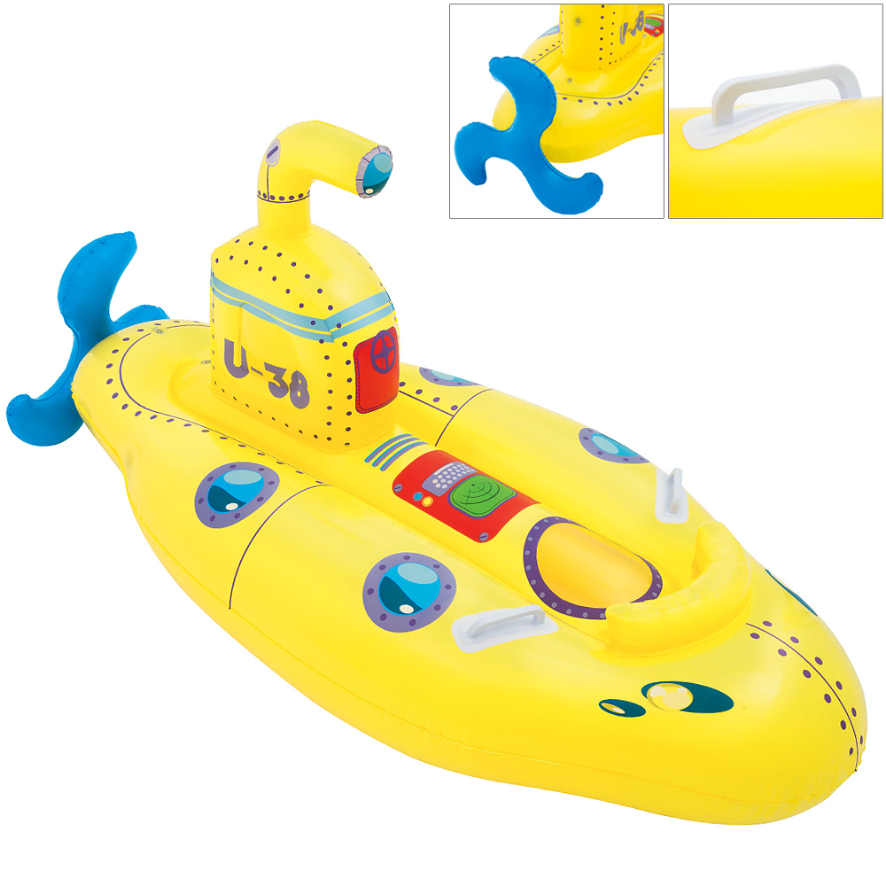 bateau gonflable bou e enfant jouet jaune baignade mer plage vacances jeu ebay. Black Bedroom Furniture Sets. Home Design Ideas