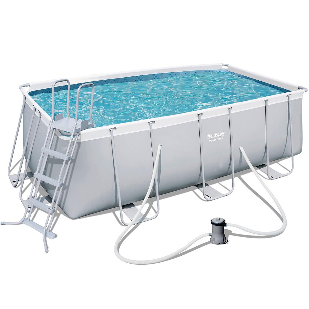 Pool schwimmbecken schwimmbad swimming pool stahlrahmen - Pool mit stahlrahmen ...