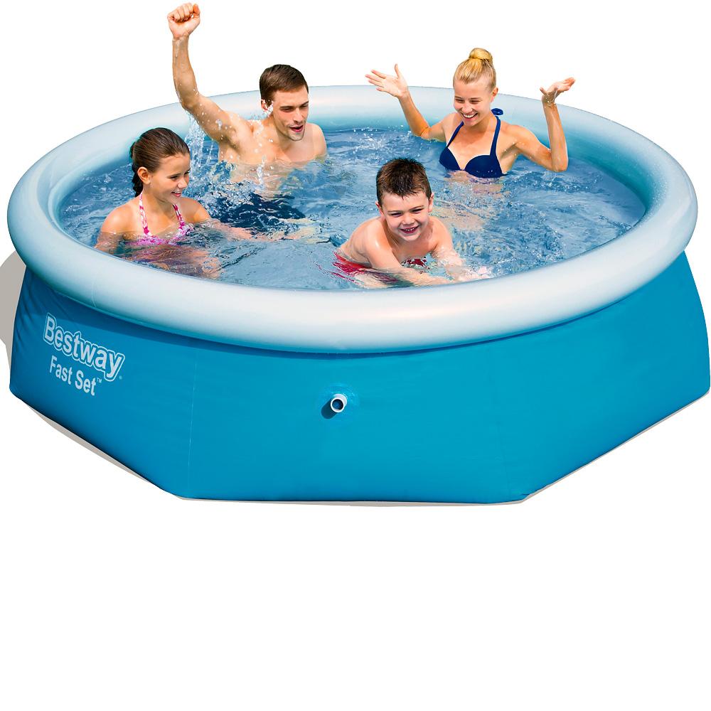 Bestway fast set pool 244x66 cm schwimmbecken for Pool selbstaufstellend