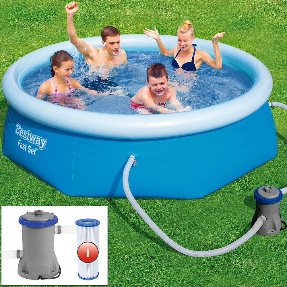 piscine autoportante bestway 244 cm avec pompe et cartouche de filtre ebay. Black Bedroom Furniture Sets. Home Design Ideas