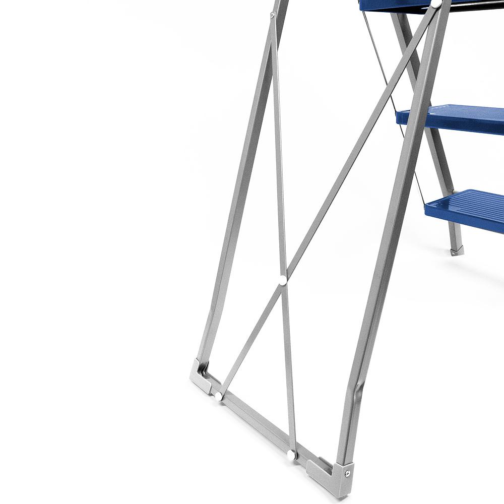 b ware haushaltsleiter klapptritt 4 stufen stehleiter stahl tritt leiter 150kg ebay. Black Bedroom Furniture Sets. Home Design Ideas