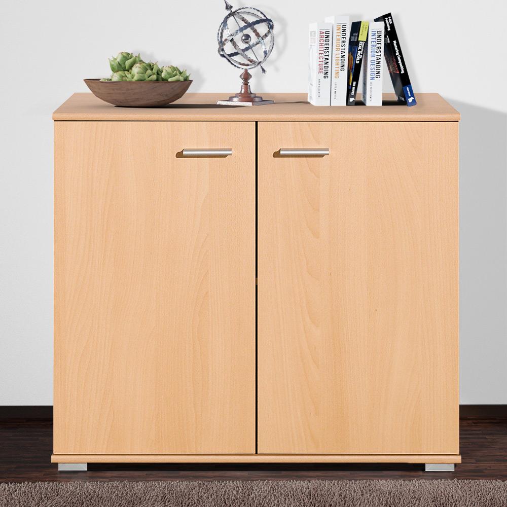 cs schmal sideboard highboard kommode mehrzweckschrank b cherregal wandregal ebay. Black Bedroom Furniture Sets. Home Design Ideas