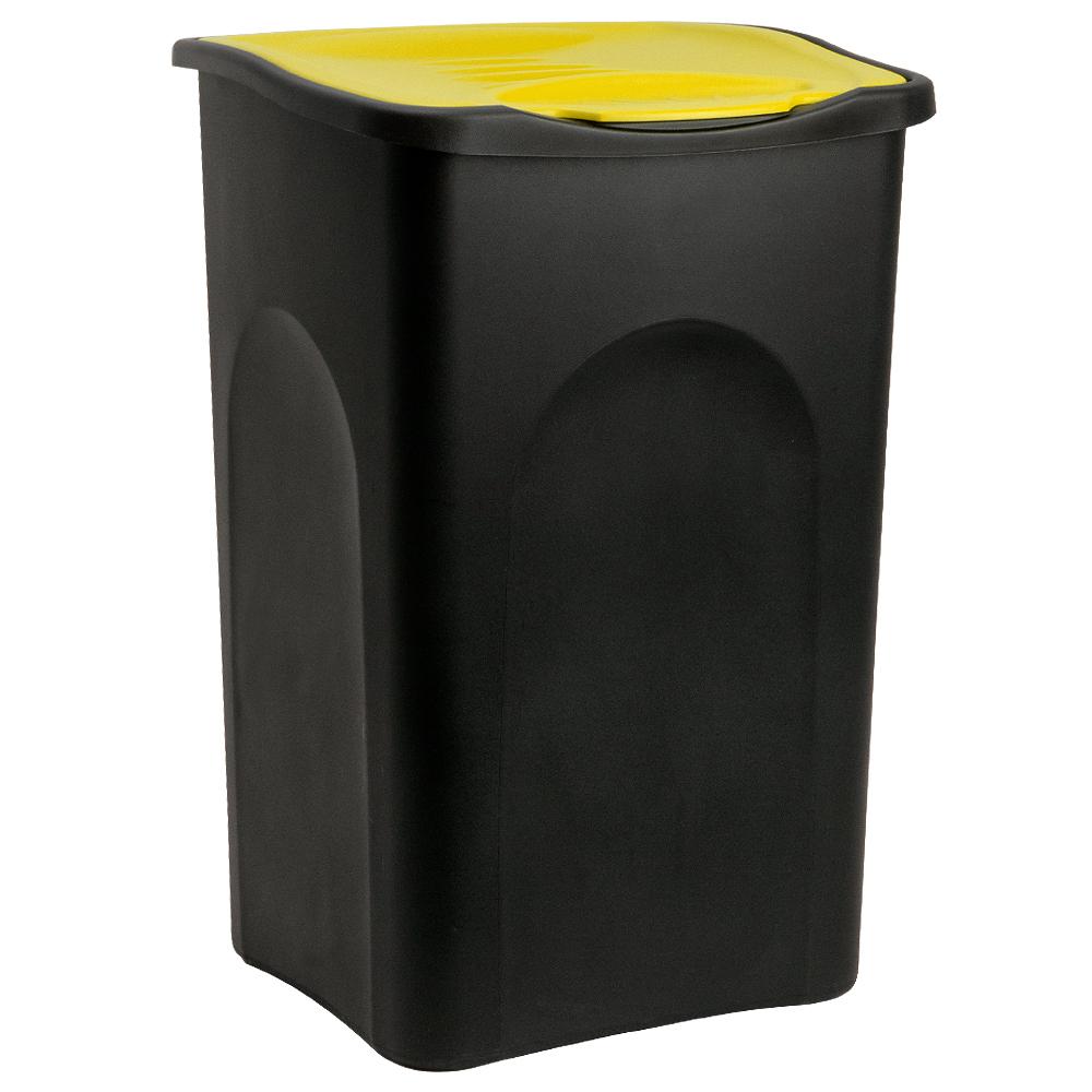 poubelle 50 litres avec couvercle collecteur de d chets 3 couleurs ebay. Black Bedroom Furniture Sets. Home Design Ideas