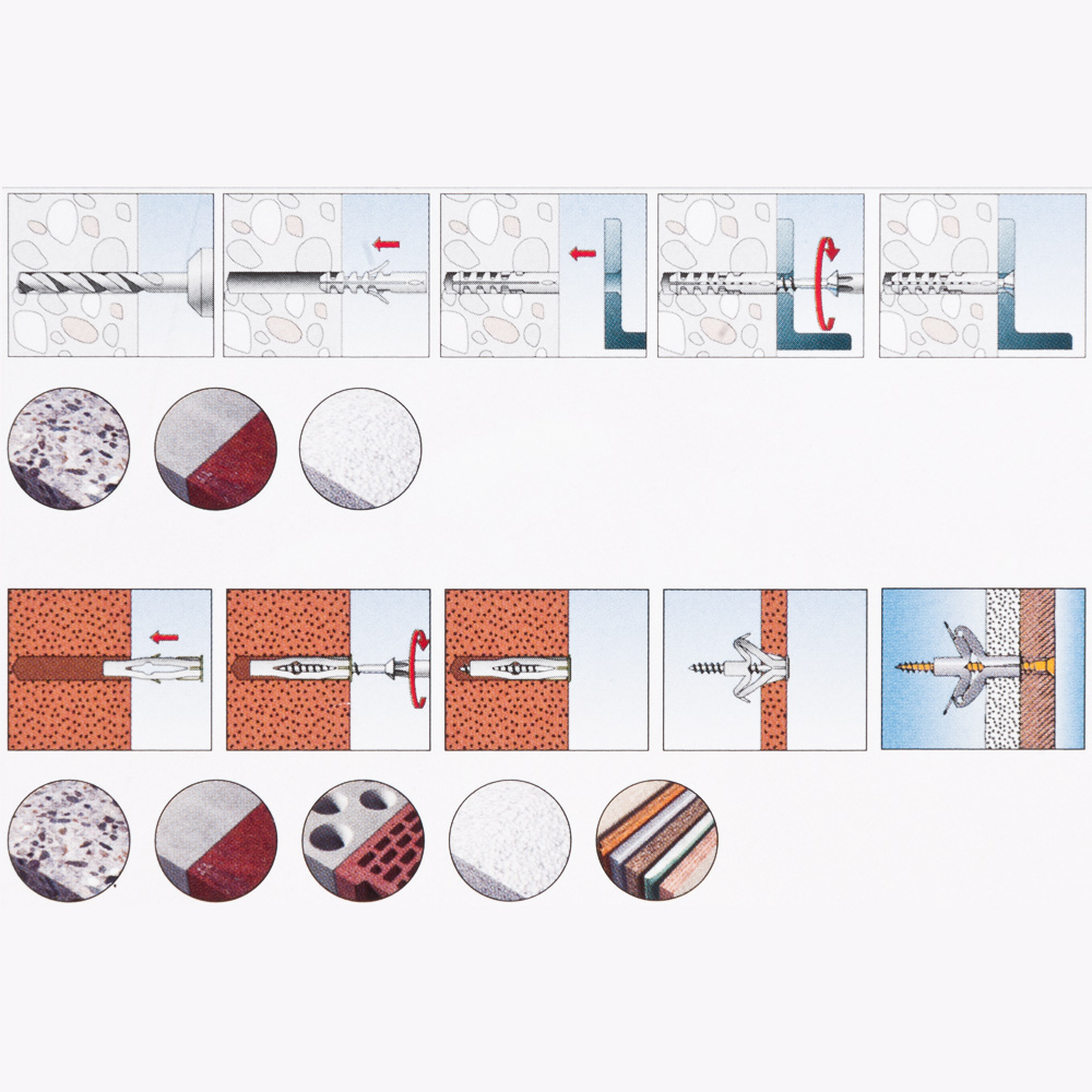 fischer d bel schrauben sortiment 360 tlg box set spreizd bel universald bel ebay. Black Bedroom Furniture Sets. Home Design Ideas