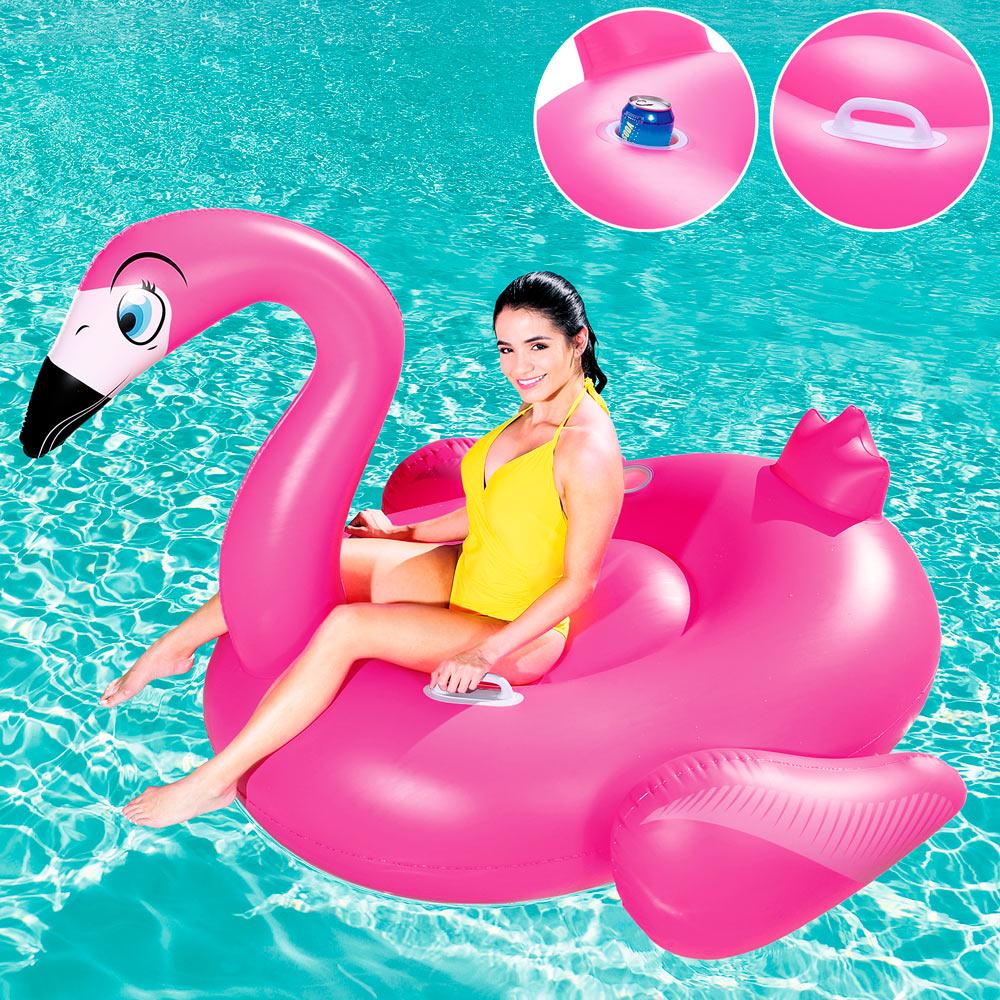 Badeinsel xxl flamingo
