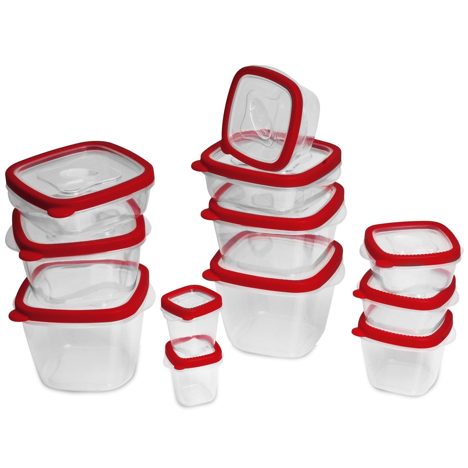 24tlg vorratsdosen set mit deckel frischhaltedosen aufbewahrungsdose bpa frei ebay. Black Bedroom Furniture Sets. Home Design Ideas