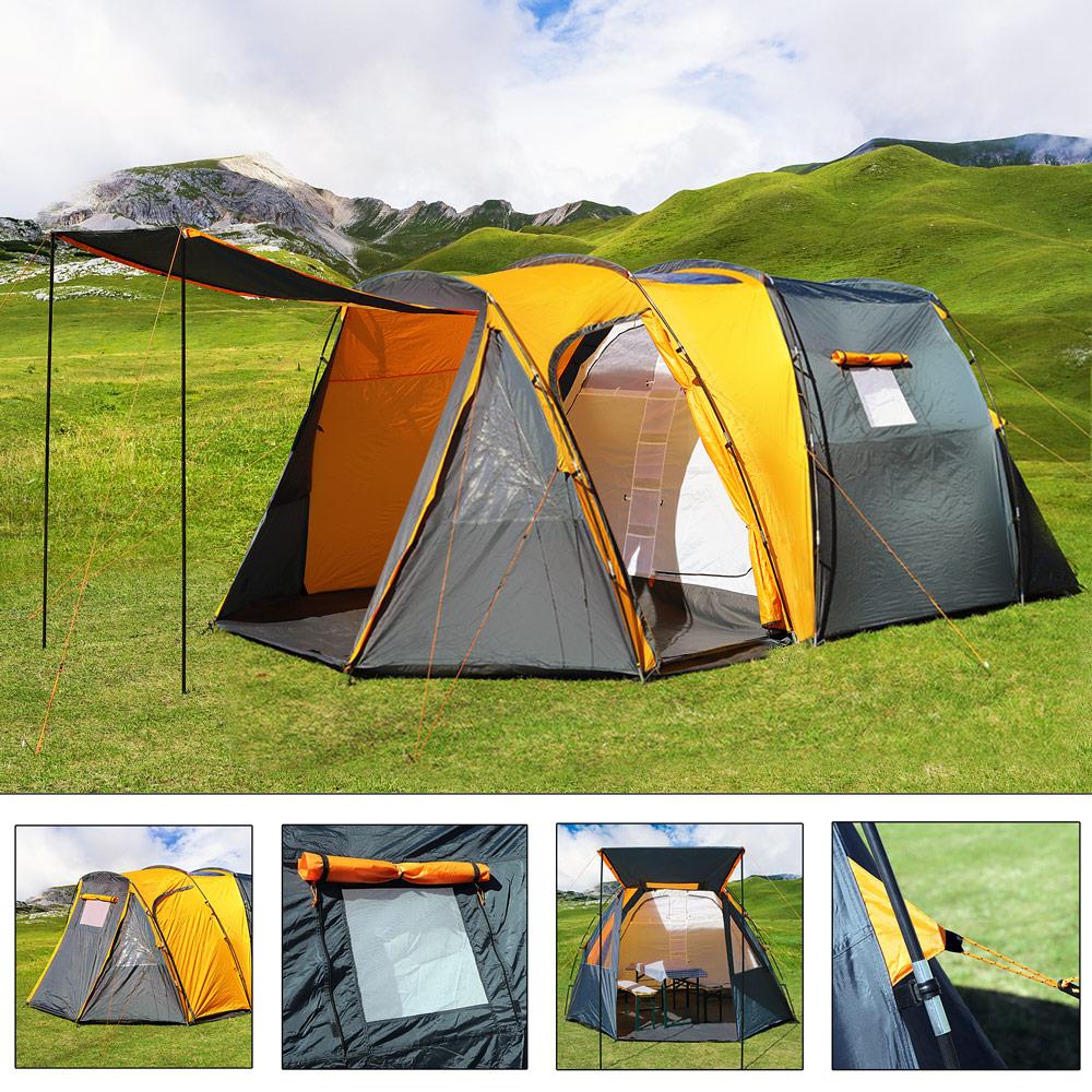 b ware zelt campingzelt 4 personen familienzelt tunnelzelt. Black Bedroom Furniture Sets. Home Design Ideas