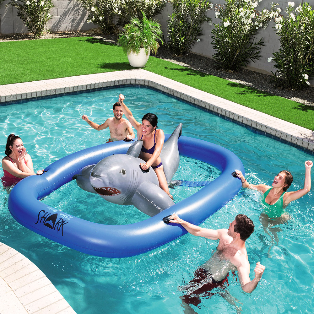 Shark Fin Animal Swimming Ring Inflatable Float Swim Pool Toy for Boys and Girls