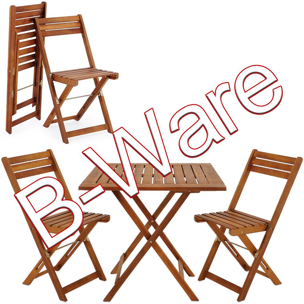 b ware tisch stuhl garten m bel esstisch holztisch klapptisch klappstuhl set ebay. Black Bedroom Furniture Sets. Home Design Ideas