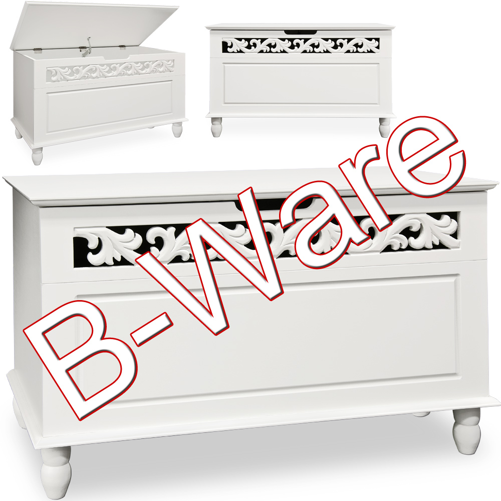 b ware truhe jersey wei tischtruhe sideboard w schetruhe. Black Bedroom Furniture Sets. Home Design Ideas