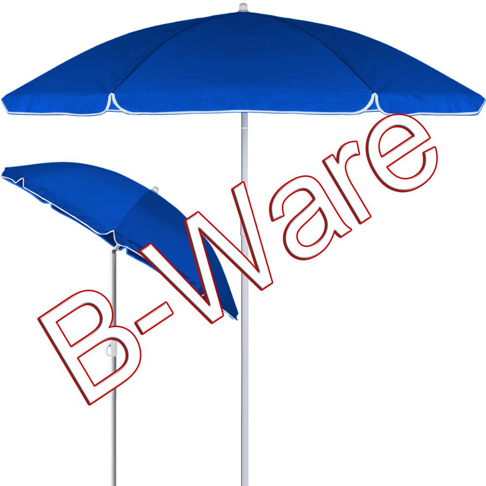 b ware sonnenschirm strandschirm marktschirm garten schirm 180cm stahl blau ebay. Black Bedroom Furniture Sets. Home Design Ideas