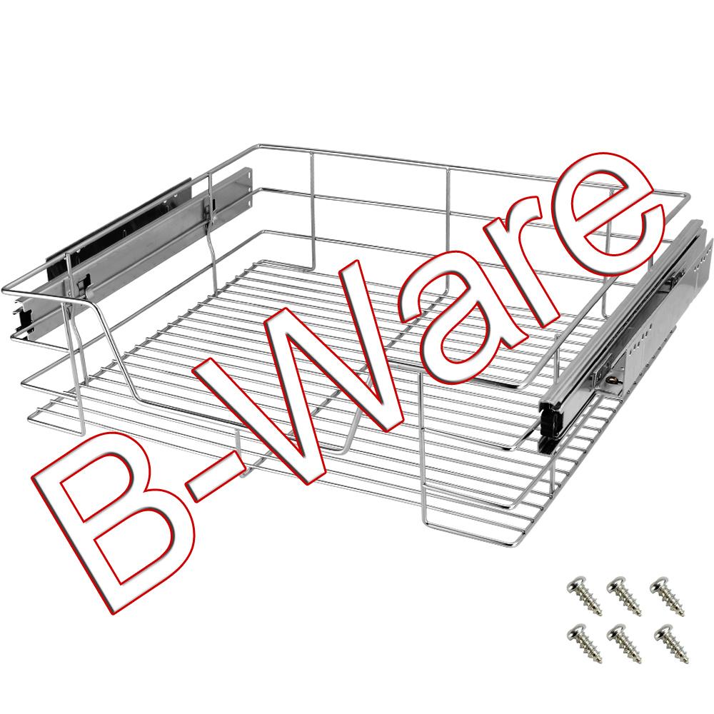 b ware teleskop schublade 60cm k chenschublade schrankauszug auszugsschublade ebay. Black Bedroom Furniture Sets. Home Design Ideas