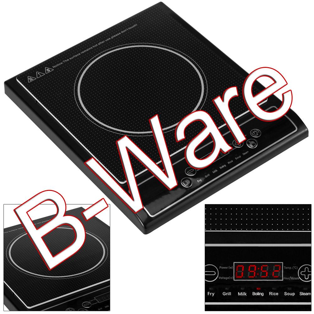 b ware induktionskochplatte 2000 watt cook induktion kochplatte kochfeld herd ebay. Black Bedroom Furniture Sets. Home Design Ideas