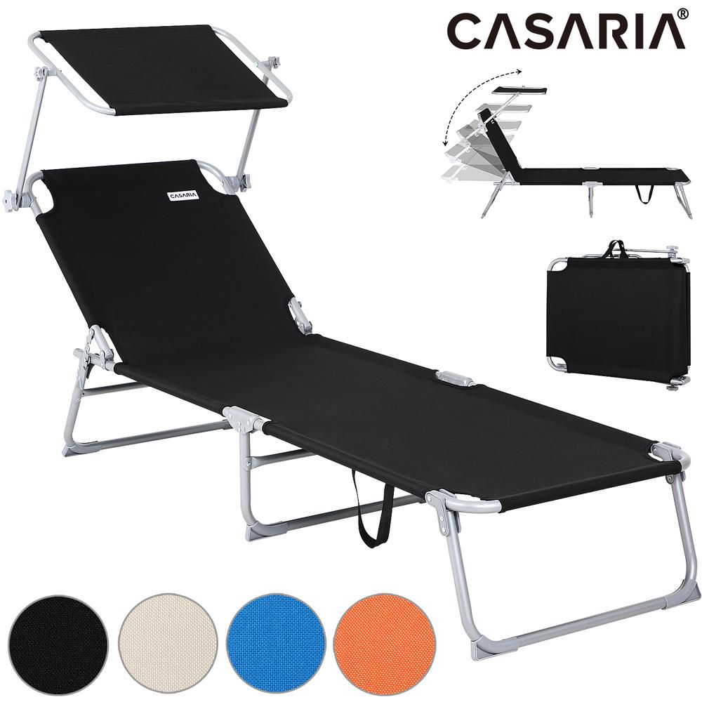 Chaise longue de jardin transat pliable pare soleil bain - Chaise longue bain de soleil pliable ...