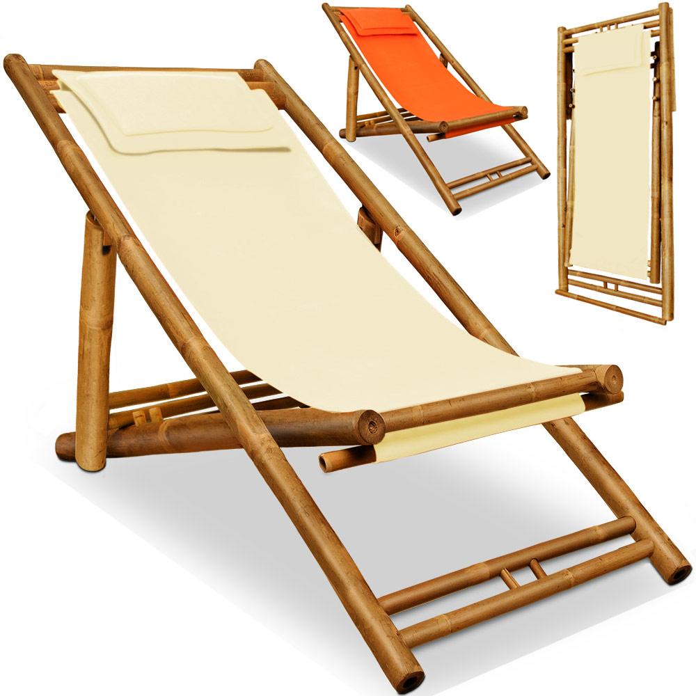 liegestuhl gartenliege holz liege bambus sonnenliege relaxliege