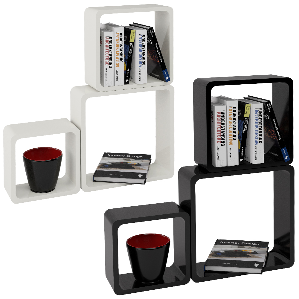 wandregal 3er set h ngeregal b cherregal cuberegal holzregal loungeregal regale ebay. Black Bedroom Furniture Sets. Home Design Ideas