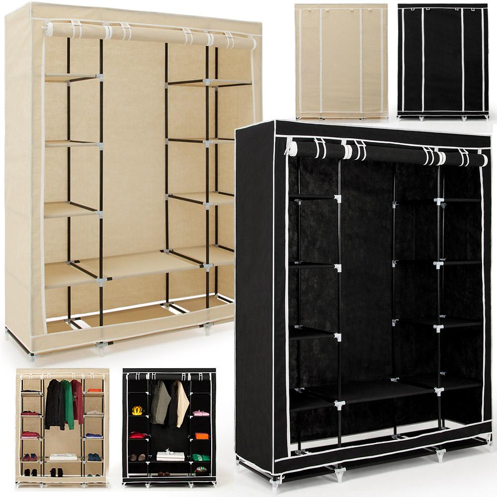 faltschrank kleiderschrank textilschrank campingschrank schuhschrank 175x135x45 ebay. Black Bedroom Furniture Sets. Home Design Ideas